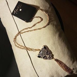 Fierce Leopard pendant necklace